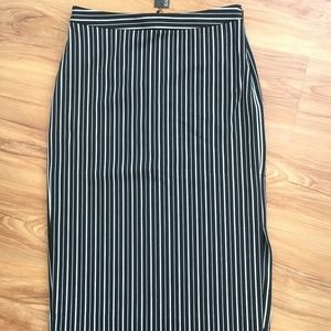 Pinstripe Italian Wool Pencil Skirt BananaRepublic